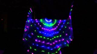LED isis wings belly dance light show