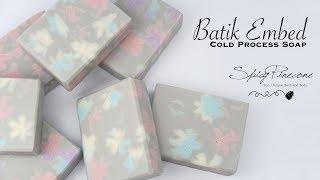 Batik Embed Soap -  Spicy Pinecone