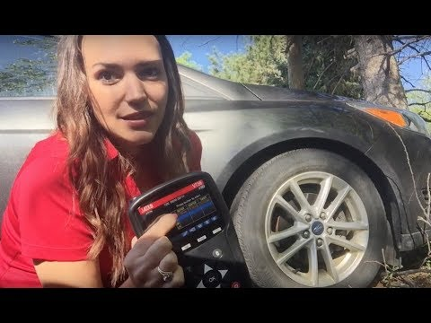 Tire Tread Depth Gauge demo - measuring tire tread depth