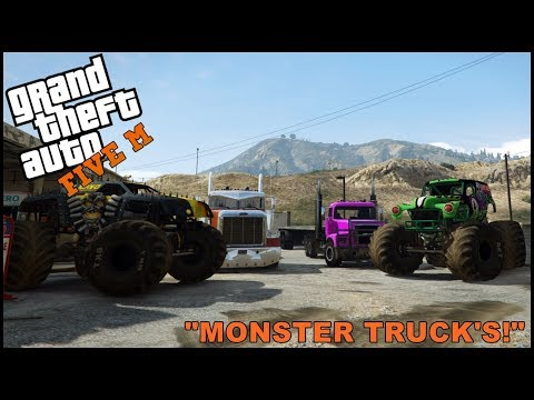 GTA 5 ROLEPLAY - MONSTER TRUCK PRE-RACE PRACTICE  - EP. 331 - CIV