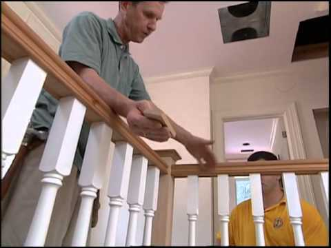Installing Stair Handrails And Balusters Youtube