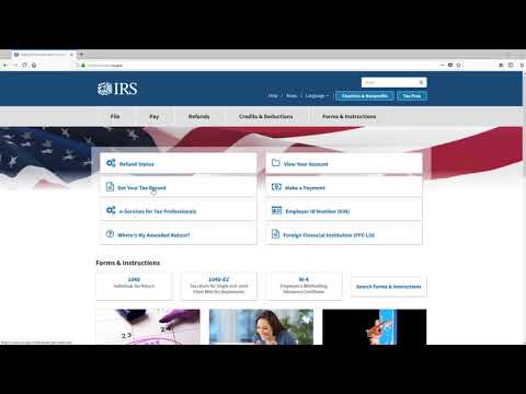 Ordering an IRS Tax Return Transcript