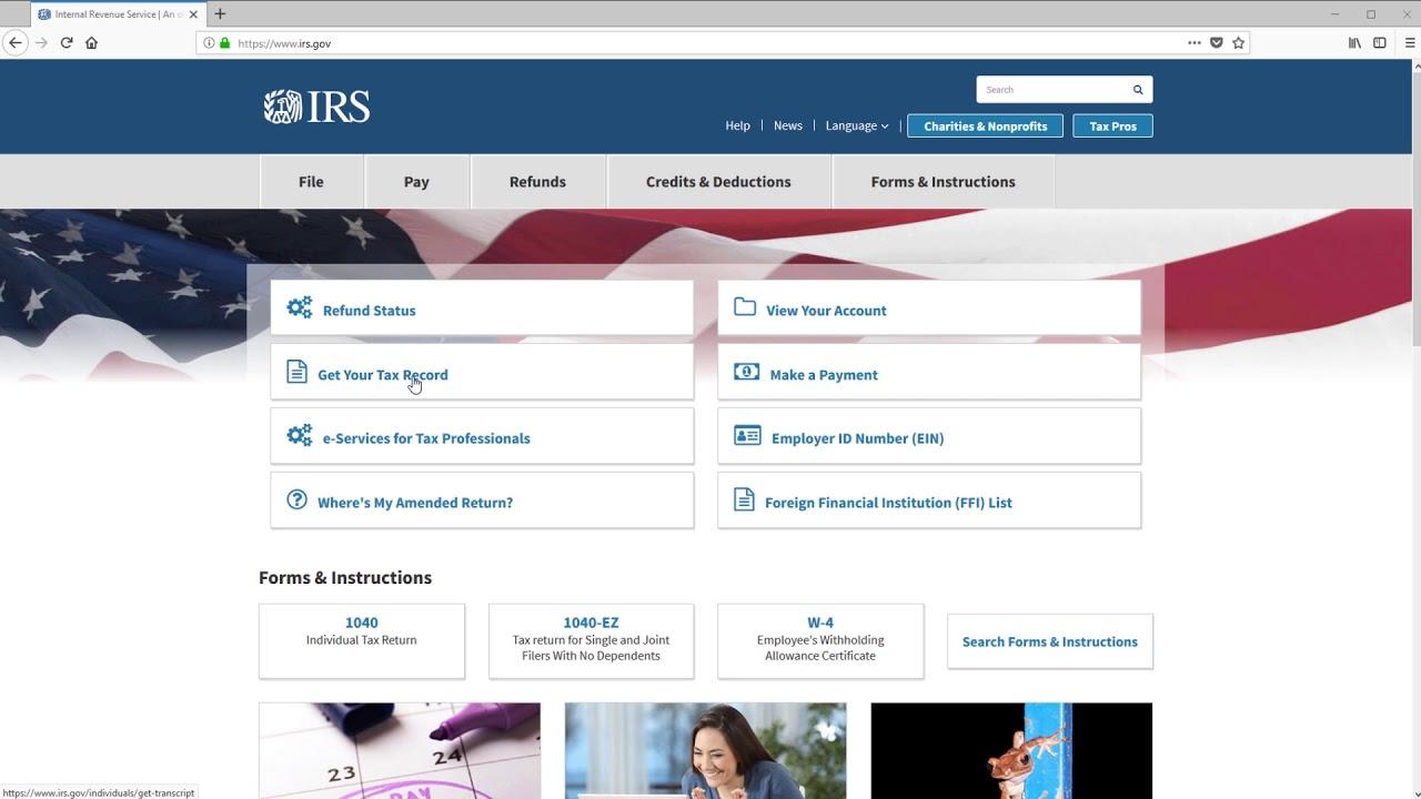 Ordering an IRS Tax Return Transcript
