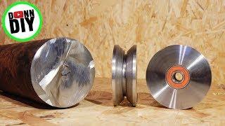 Homemade Sawmill #11 - Turning V-Groove Steel Wheels
