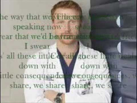 How We Operate-Kevin McKidd-Lyrics [Grey's Anatomy]