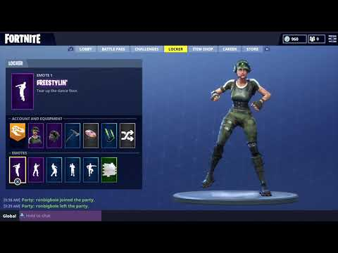 FORTNITE FREESTYLIN EMOTE! (1 HOUR)