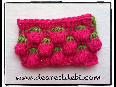Tunisian Crochet Berry Stitch