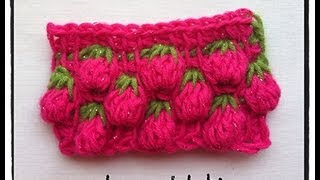 Repeat youtube video Tunisian Crochet Berry Stitch