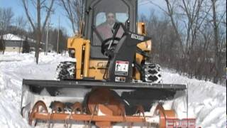 EDGE Snow Blower Attachment Throws Snow Up To 45 Feet! Thumbnail