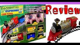 REVIEW de brinquedos - Locomotiva expresso ii braskit com tuneo - Trem de brinquedo a pilha
