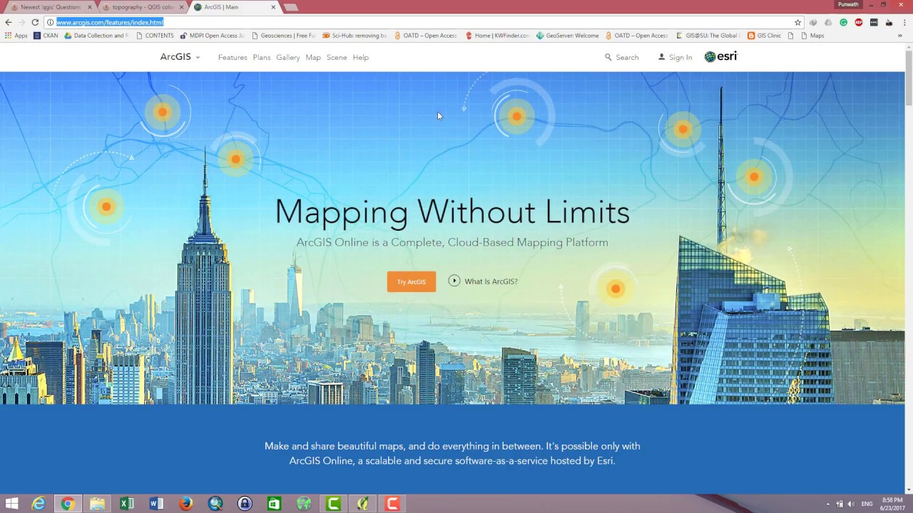 Adding ArcGIS Online Services to QGIS