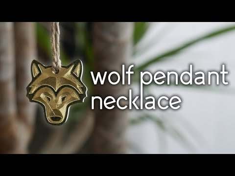 Making A Brass Wolf Pendant Necklace Using A Desktop CNC Mill