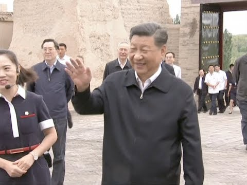Xi Makes Inspection Tour of Northwestern Province of Gansu