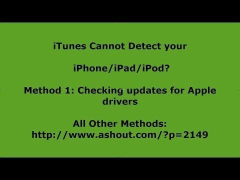 how to make itunes detect ipod