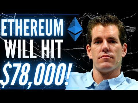 Winklevoss Ethereum Price Prediction: Tyler Winklevoss on how ETH hits $78,000