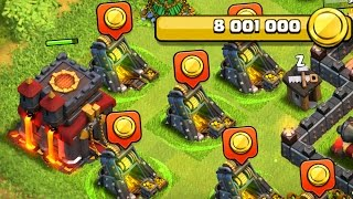TOO MUCH GOLD -  Clash of Clans -  MAX TH10 DEFENSES