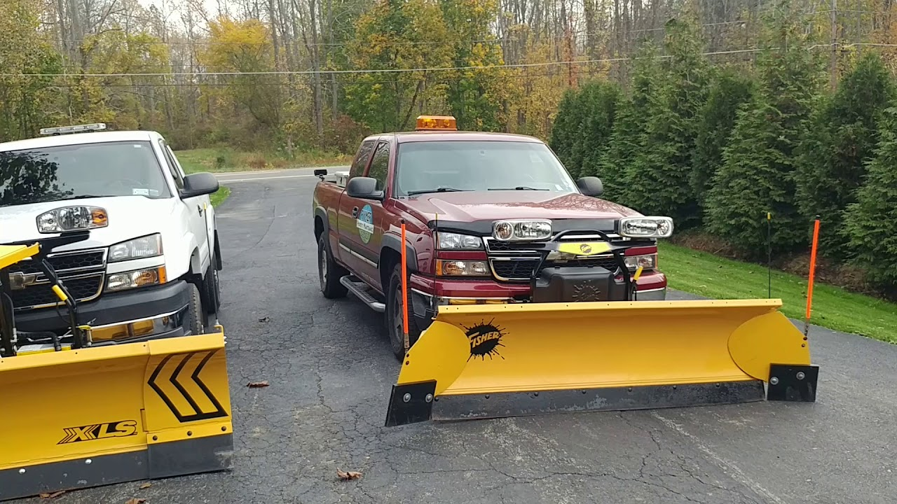 Snow Plow Update Fisher Xls Fisher Ht Plows Youtube