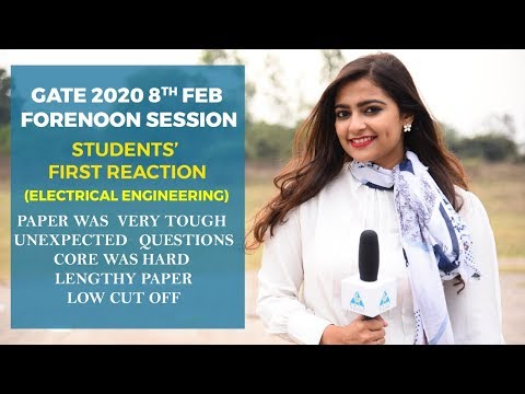 Students' First Reaction | GATE 2020 | 8th Feb | Forenoon Session | EE