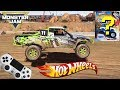 HOT WHEELS MONSTER JAM VIDEO GAME RACE CHALLENGE with MONSTER TRUCK SURPRISE TREASURE BOX