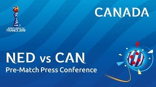 NED v. CAN - Canada - Pre-Match Press Conference