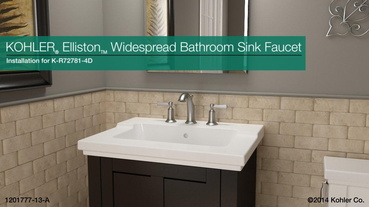 installation elliston widespread bathroom sink faucet