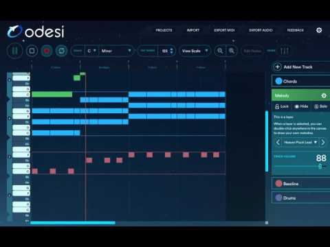 Odesi Music Software, How To Create Your Own Chord Progressions, Melodies and Basslines