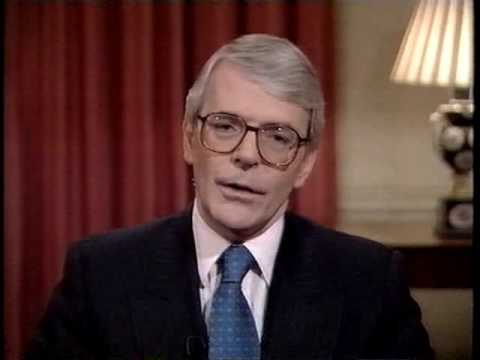 Ministerial broadcast by John Major