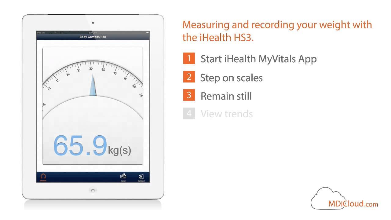 iHealth HS3 Digitale Bluetooth Personenwaage