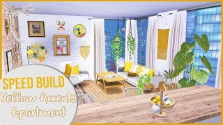 The Sims 4 Speed Build | THE APARTMENT WITH YELLOW ACCENTS + CC Links