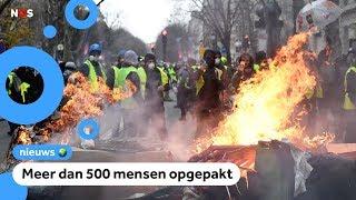 Chaos in Parijs bij demonstratie gele hesjes