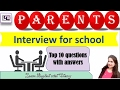 Parents interview  - questions and answers for kids admission - English through hindi