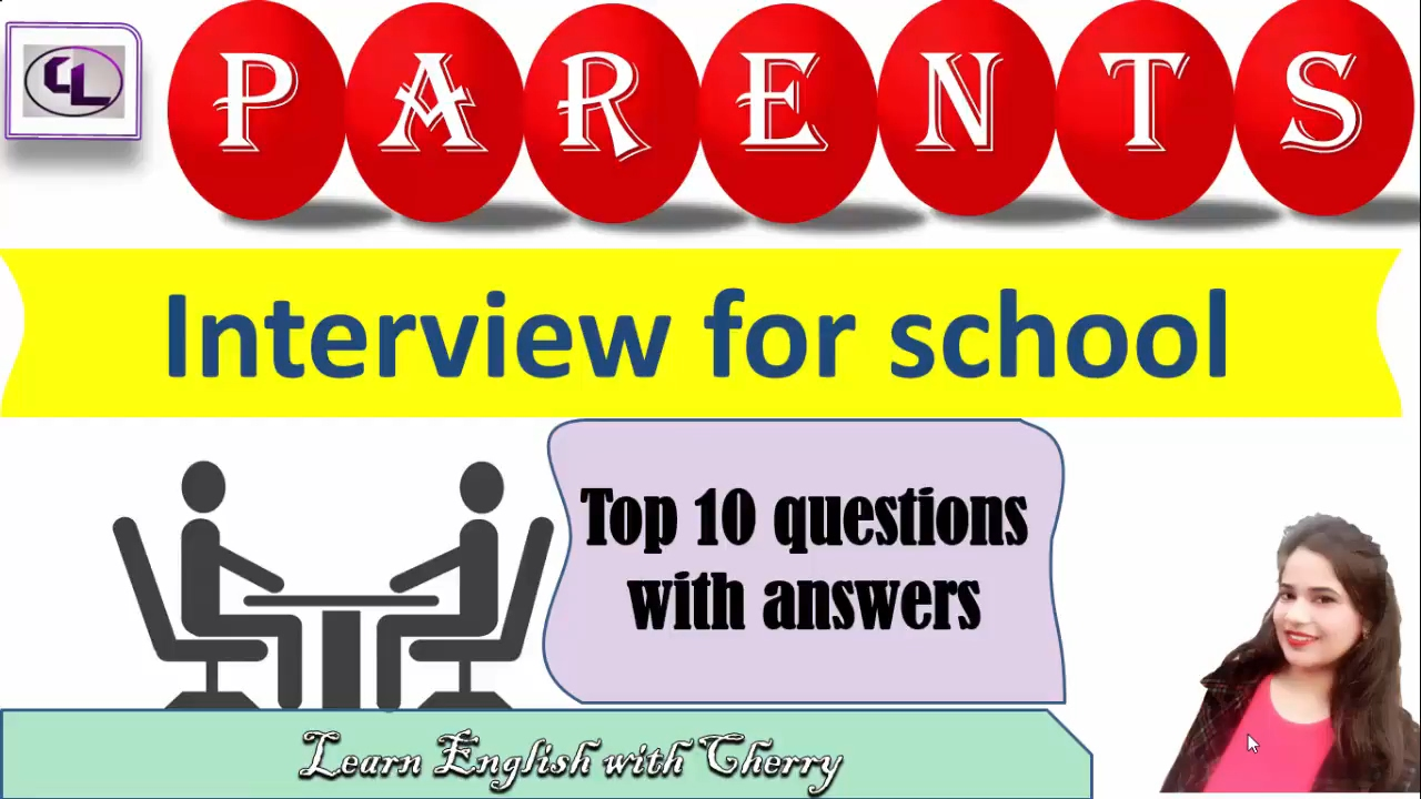 Parents interview - questions and answers for kids admission - English through hindi - YouTube