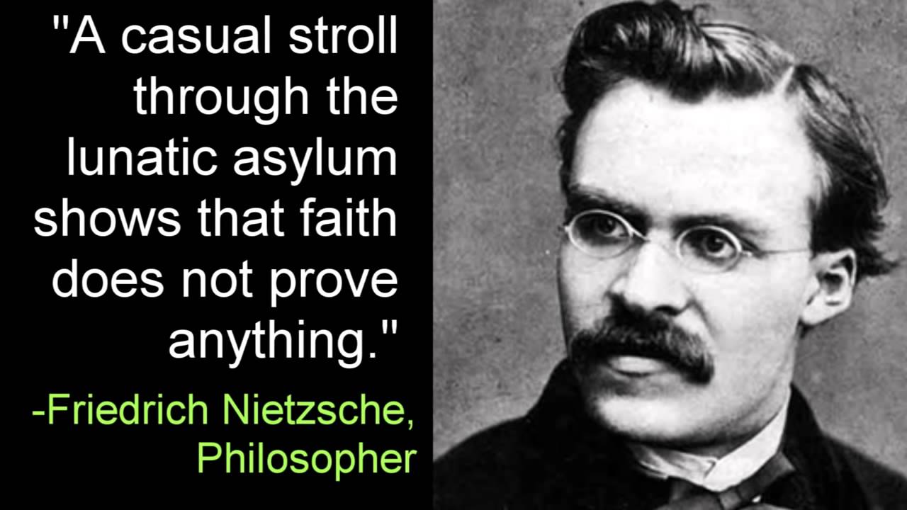 Nietzsche Quotes: Faith Does Not Prove Anything -Friedrich Nietzsche