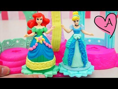 Princesas de Disney Ariel y Cenicienta de plastilina - Juguetes de Play Doh