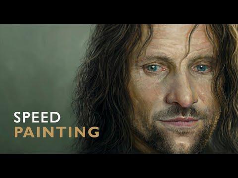 Painting VIGGO MORTENSEN & ARAGORN / Time Lapse (Photoshop)
