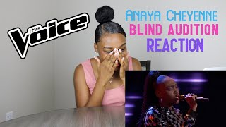 """Anaya Cheyenne Reaction to my Blind Audition on """"The Voice""""!"""
