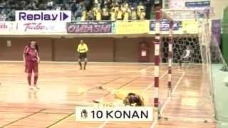 南葛シューターズGOALS!!PART35KONAN #2吉川綾乃からの浮き球のパスを#1...