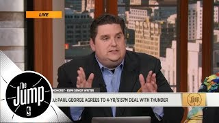 Windhorst: Paul George's Thunder contract is 'a giant hug to Oklahoma City'  | The Jump | ESPN