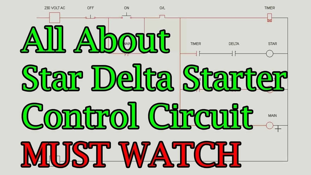 all about star delta starter control circuit diagram [ 1280 x 720 Pixel ]