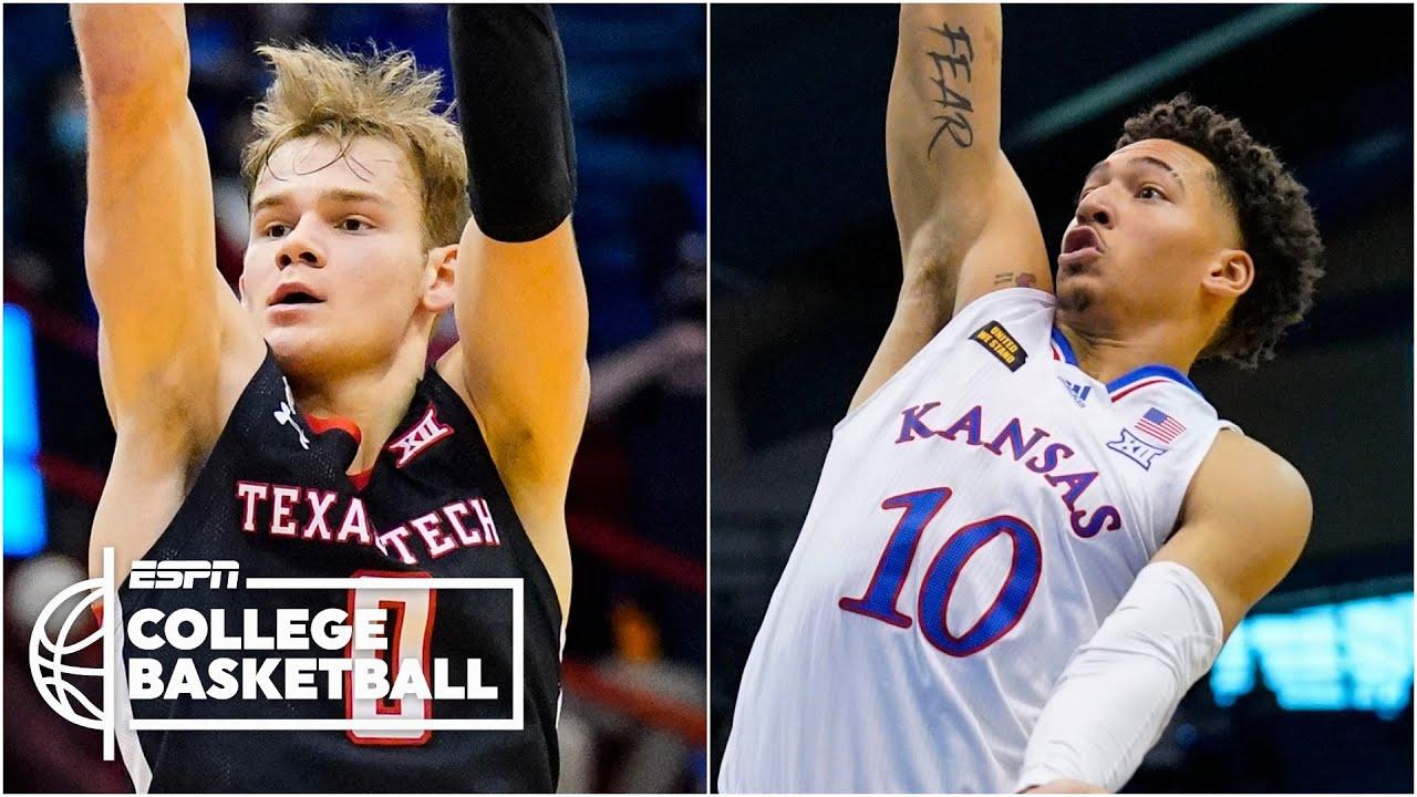 No. 23 Kansas upend No. 15 Texas Tech [FULL GAME HIGHLIGHTS]   ESPN College Basketball