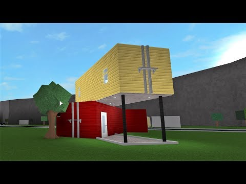 Building A Container House Roblox Bloxburg 22k Youtube