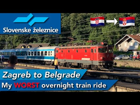 Zagreb to Belgrade onboard Slovenian overnight train