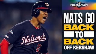 Nationals Anthony Rendon, Juan Soto take Clayton Kershaw deep to tie NLDS Game 5 | MLB Highlights