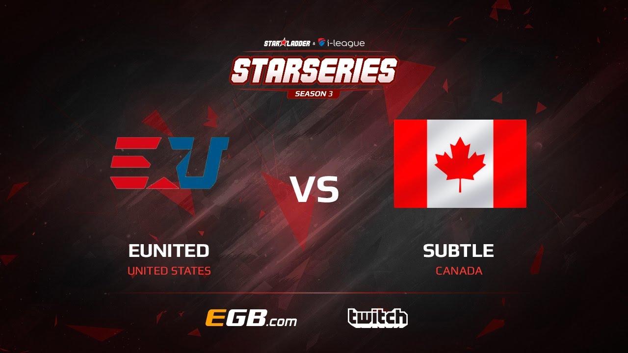 eUnited vs subtLe, map 2 cache, SL i-League StarSeries Season 3 NA Qualifier