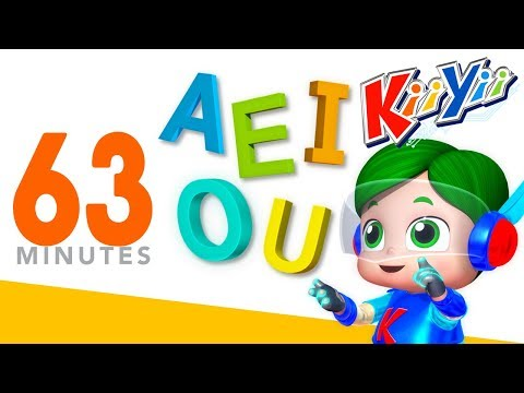 The Vowels Song | AEIOU | Plus Lots More Nursery Rhymes | 63 Minutes Compilation from KiiYii!