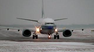 Боинг 737 - Поздоровался Дальним светом / Аэропорт Внуково