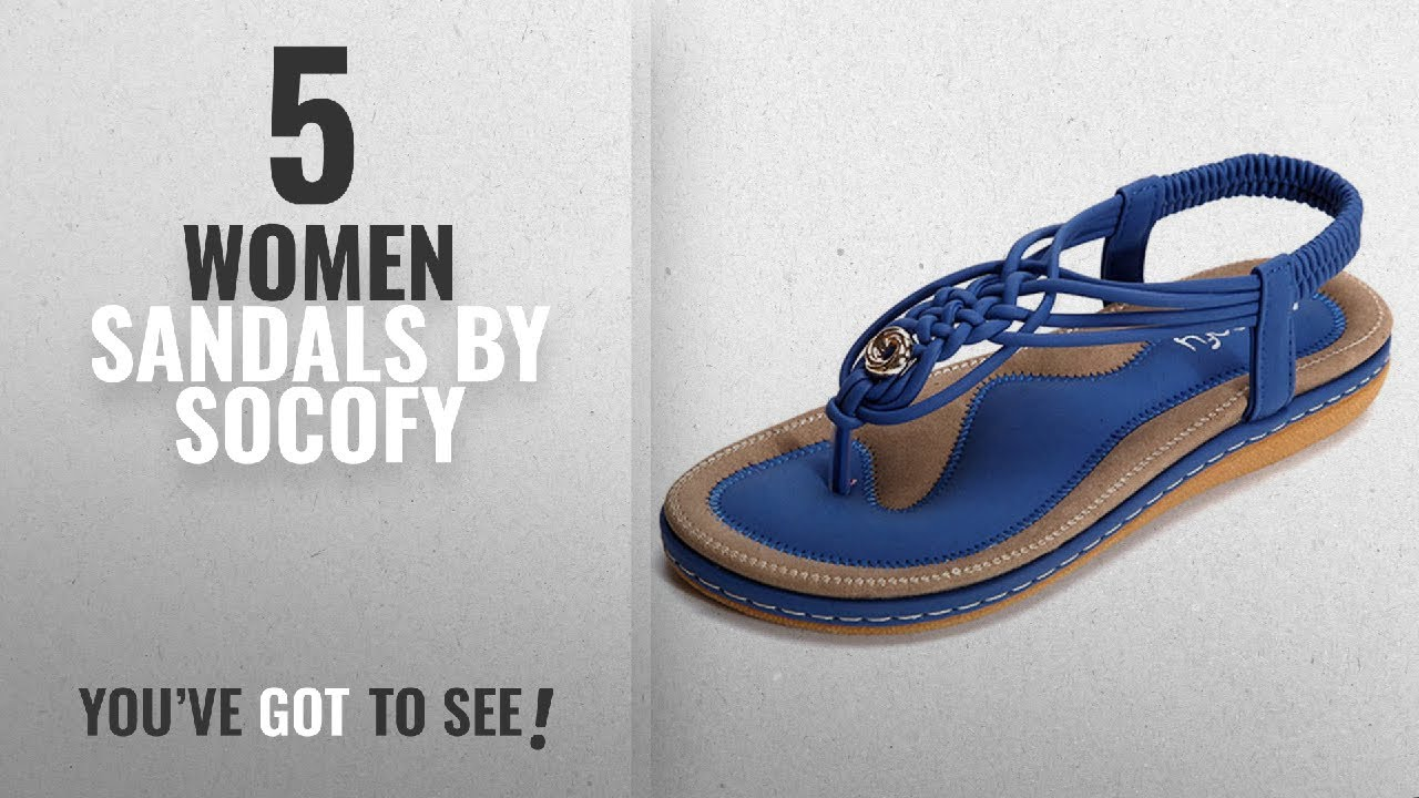 d4214014e Top 5 Socofy Women Sandals  2018   Socofy Bohemian Sandals