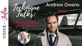 Tenor, Andrew Owens, Shows Us How to Sing High Notes (with GREAT technique)