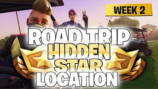"Fortnite Battle Royale Season 5 Week 2 Secret Battlestar Location (""Road Trip"" Challenges)"