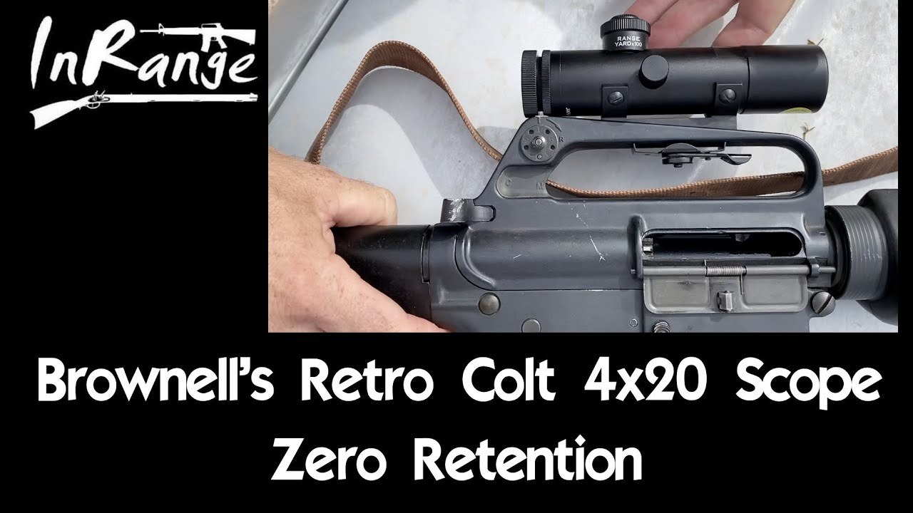 Brownells' Retro Colt 4x20 - Zero Retention